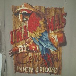 Una Mas Cerveza graphic tee shirt sz XL